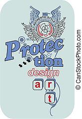 vector, diseño, lata, ilustración