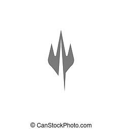 vector, diseño, logotipo, icono, tident, ilustración