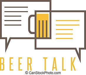vector, diseño, plantilla, de, cerveza, charla, concepto
