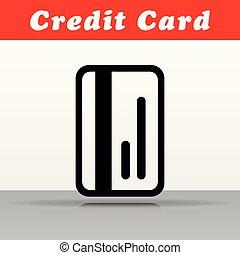 vector, diseño, tarjeta bancaria, icono