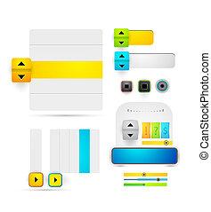 vector, diseño telaraña, elementos