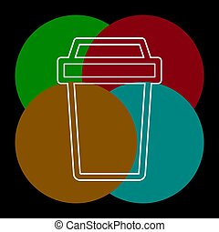 vector disposable paper cup, coffee drink icon