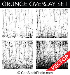Vector Distressed and Cracked Background Set. Simply place...