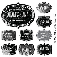 Vector Distressed Frame Set. Easy to edit. Perfect for ...