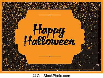 Vector Distressed Halloween Frame
