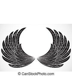 Vector Distressed Wings
