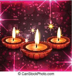 Diwali diya background - Vector Diwali diya background