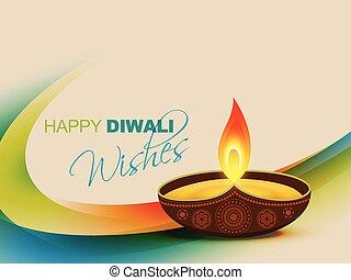 diwali festival vector design art
