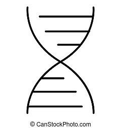 vector DNA molecule icon. Flat outline design. Eps 10