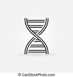 Vector DNA spiral outline icon or symbol