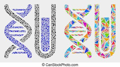 Vector DNA Testtube Mosaic Icon of Triangle Elements - DNA ...