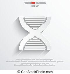 Vector DNA web icon.