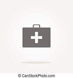 vector Doctor Bag Health Medical Icon Isolated on white