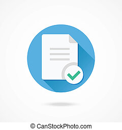 Vector Document and Check Mark Icon