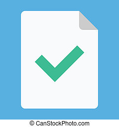 Vector Document and Tick Icon