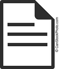 Vector Document Black Icon