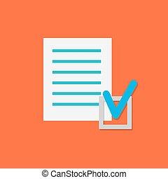 Vector Document Check Icon.