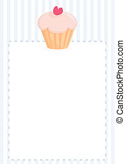 Vector document with cupcake - Vector document template,...