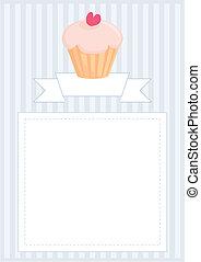 vector, documento, plantilla, cupcake