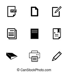 Vector documents icons set