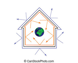 vector, doelmatigheid, energie, concept, illustratie