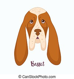 Vector dog Basset