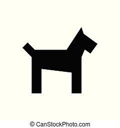 Vector Dog black icon
