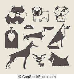 Vector Dog - Cute vector illustration of various dog breeds
