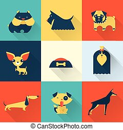 Vector Dog - Cute vector illustration of various dog breeds