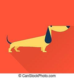 Vector Dog - Cute vector illustration of various dog vintage