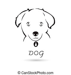 Vector dog head for your design on white background