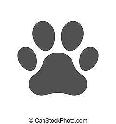 Vector dog paw print