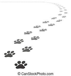 vector dog paw prints