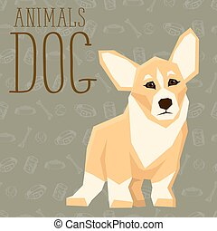 Vector Dogs Collection - Vector geometric dogs collection...