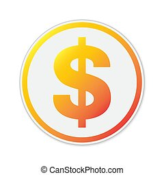 Vector Dollar symbol isolated.