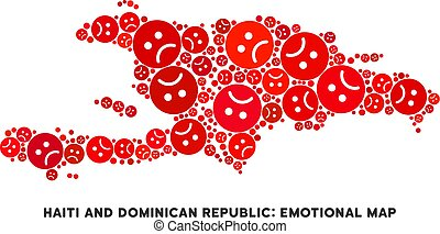 Vector Dolor Haiti And Dominican Republic Map Composition of...