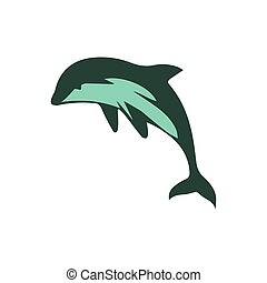 Vector dolphin illustration on a white background