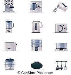 Vector domestic appliances set. P.2