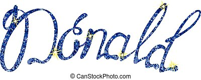Vector Donald name lettering tinsels