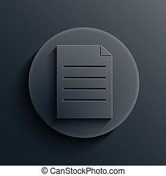 vector, donker, cirkel, icon., eps10