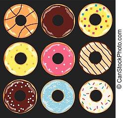donuts - vector donuts