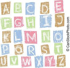 Doodle alphabet