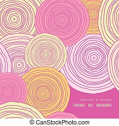 Vector doodle circle texture frame corner pattern background