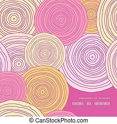 Vector doodle circle texture frame corner pattern background