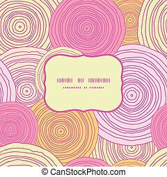 Vector doodle circle texture frame seamless pattern background