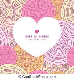 Vector doodle circle texture heart silhouette pattern frame