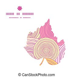 Vector doodle circle texture leaf silhouette pattern frame