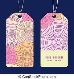 Vector doodle circle texture vertical stripe frame pattern tags set