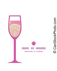 Vector doodle circle texture wine glass silhouette pattern frame