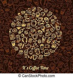 vector doodle coffee
